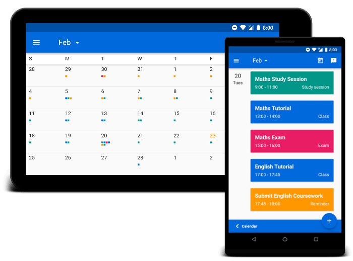 Image showing calendar planner apps